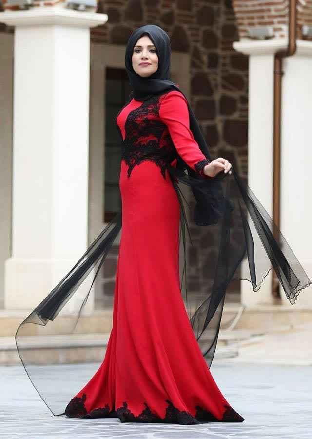 Zehrace Tesettür Balık Abiye Elbise Modelleri