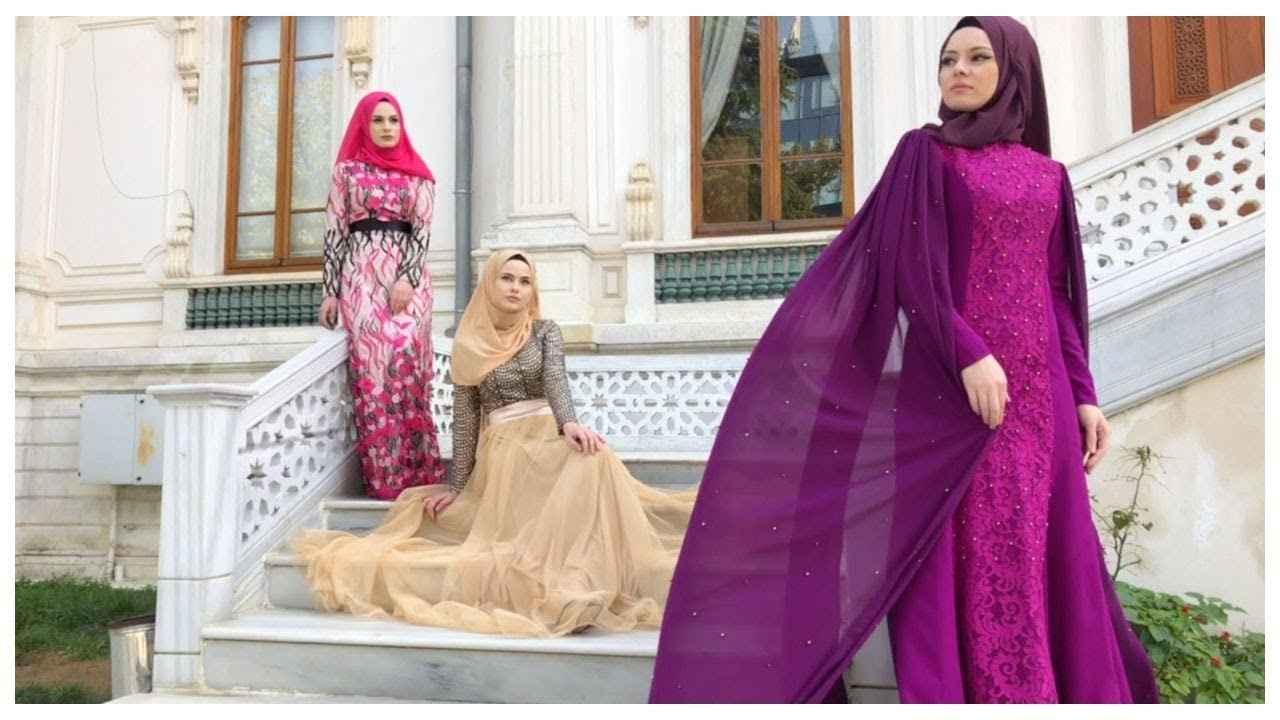 Şık ve Özel Sefamerve Tesettür Abiye Elbise Modelleri