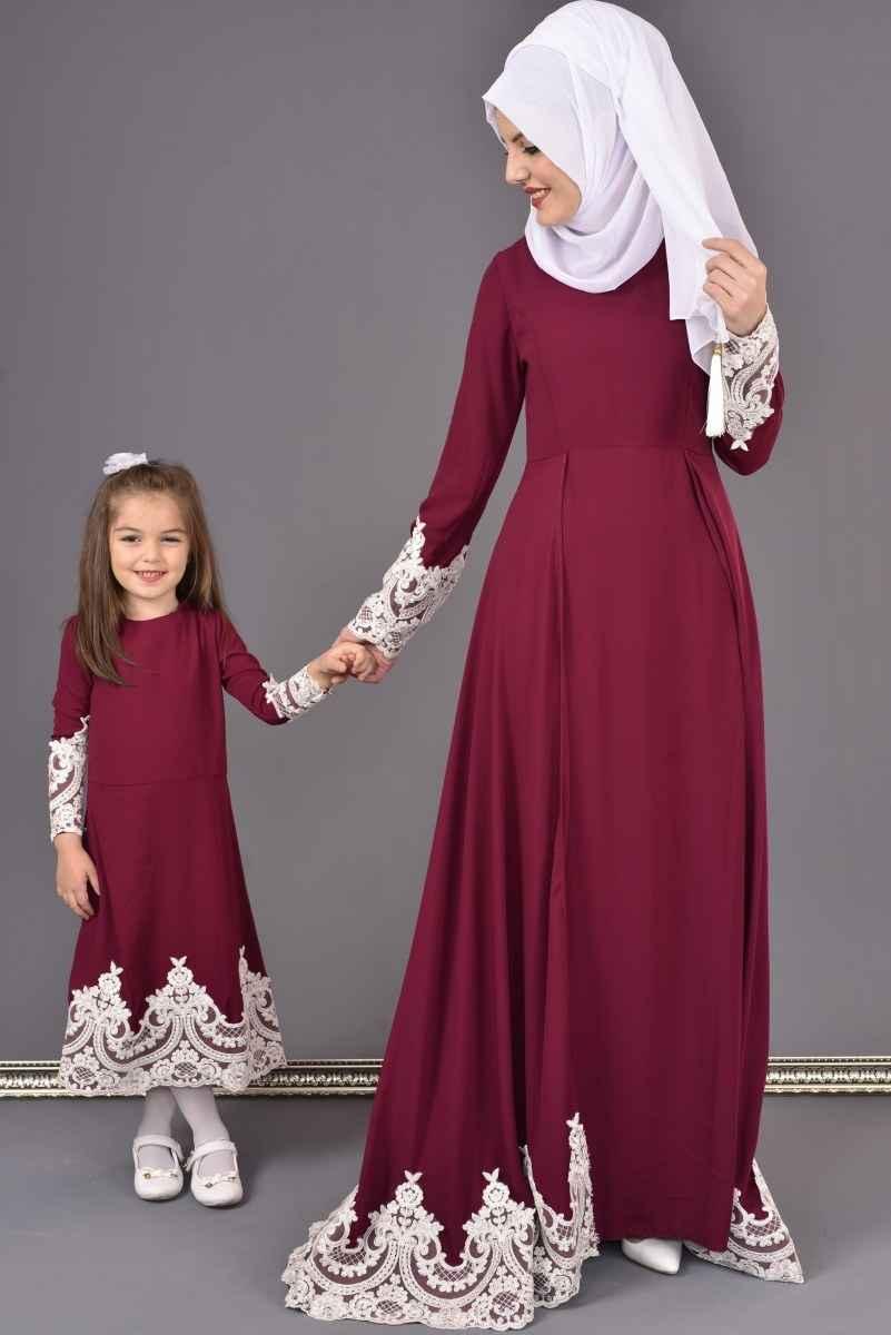 Şık ve Modern Modamerve Tesettür Abiye Elbise Modelleri