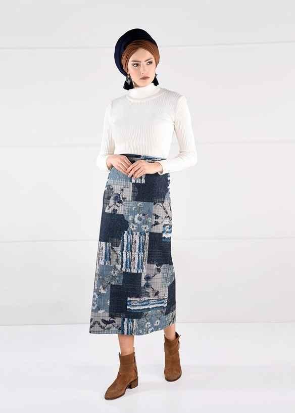 Alvina Şık Kışlık Etek Modelleri