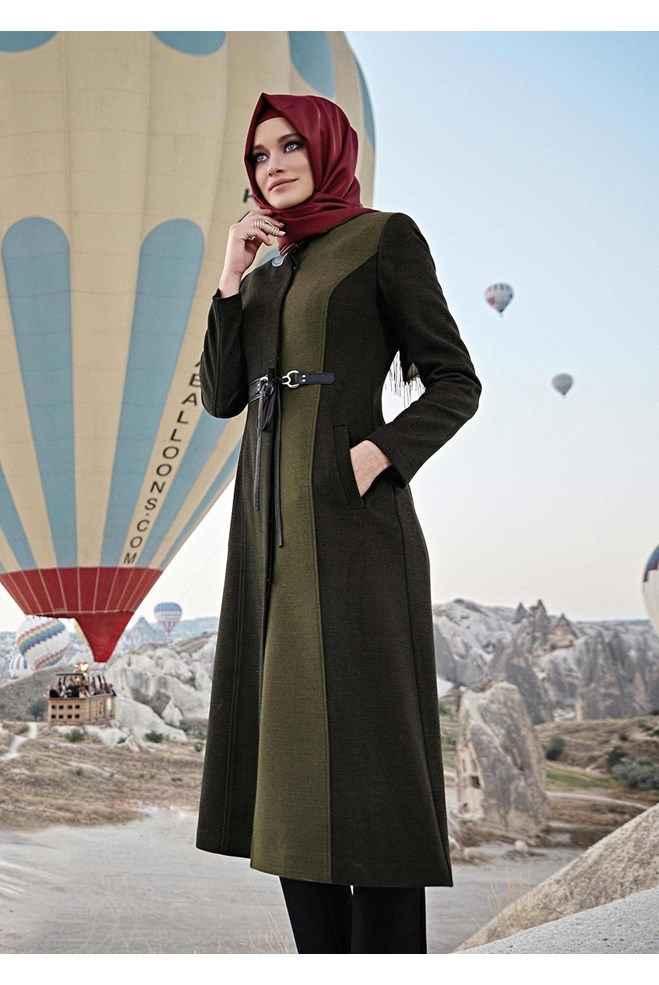 4af8c5516d644 Alvina Şık Tesettür Kaban Modelleri - Moda Tesettür Giyim