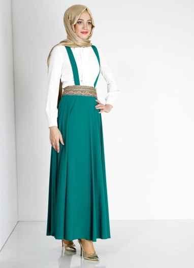 Askılı Tesettür Elbise Modelleri