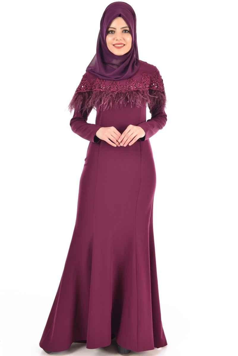 Kuyruklu Modamerve Tesettür Abiye Elbise Modelleri