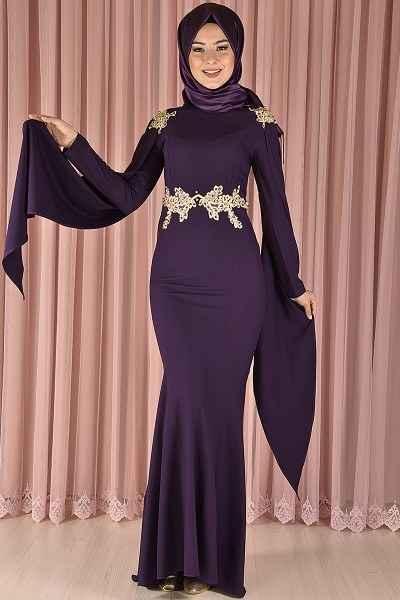 Modamerve Şık Tesettür Abiye Elbise Modelleri