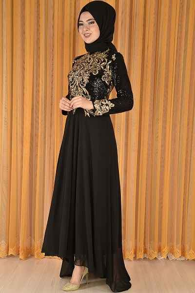 Modamerve Şifon Tesettür Abiye Elbise Modelleri