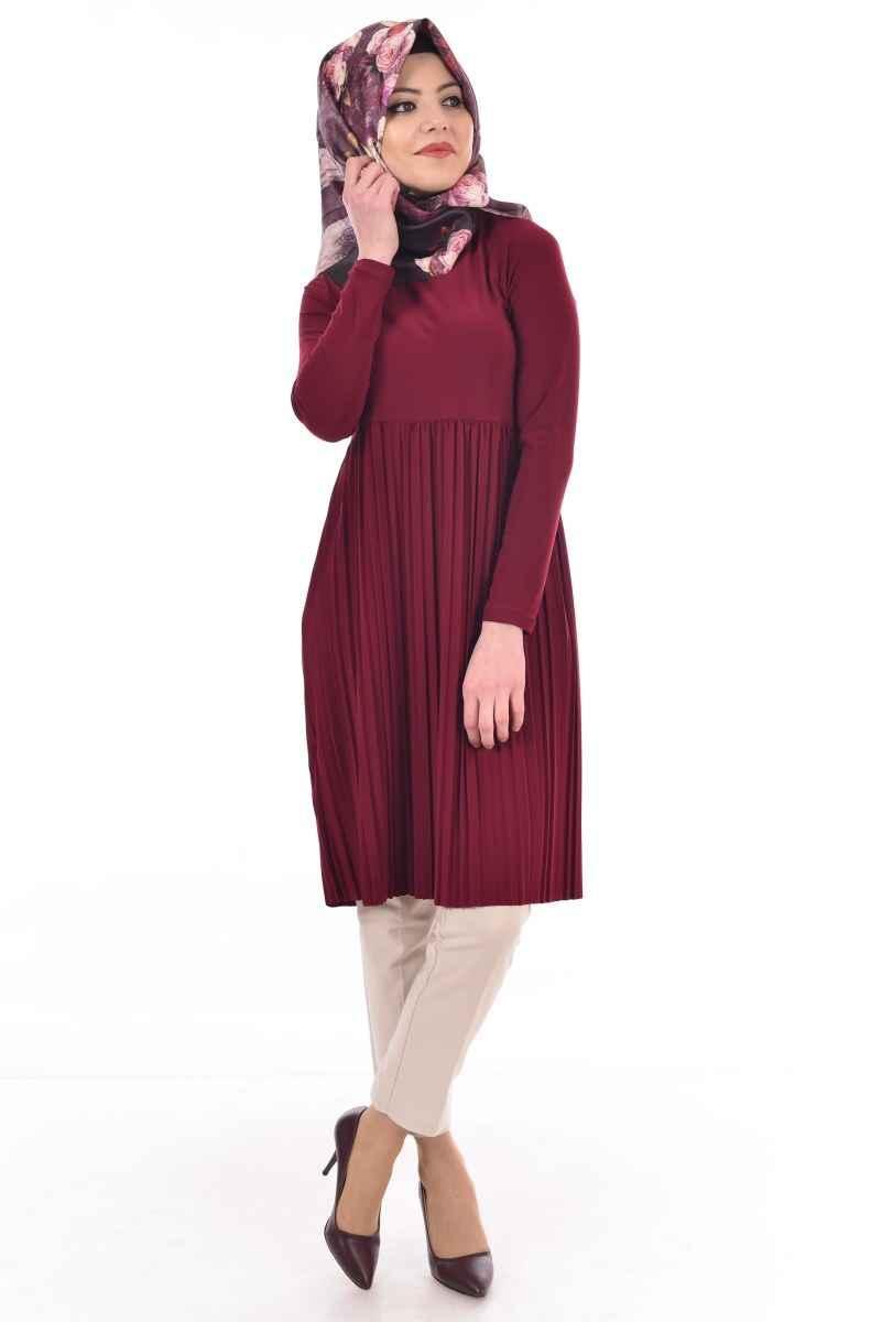 Modamerve En Şık Tesettür Piliseli Tunik Modelleri