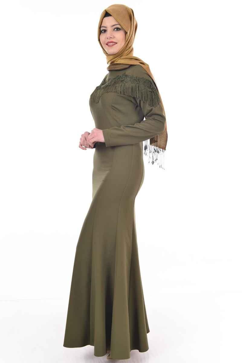 Modamerve Tesettür Püsküllü Elbise Modelleri