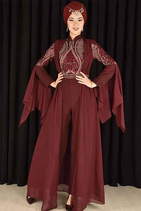 Modamerve Tesettür Tulum Abiye Elbise Modelleri
