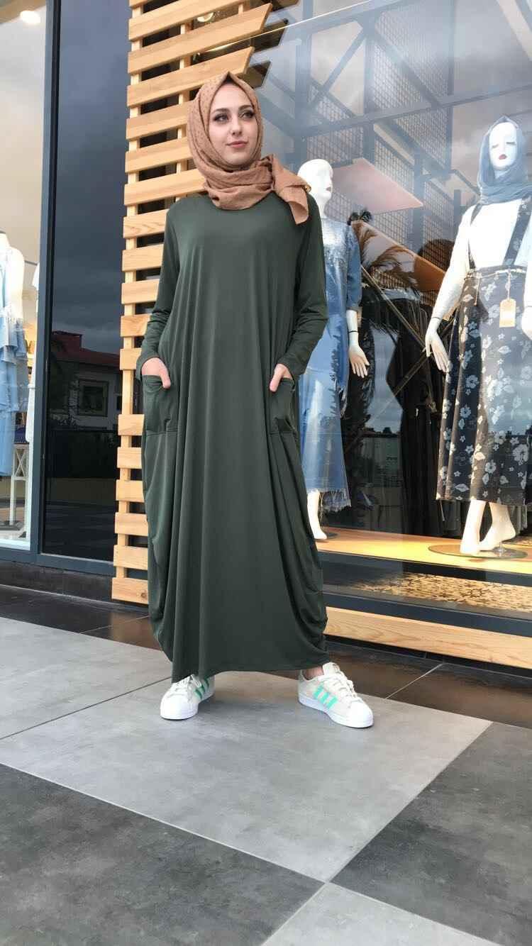 26abcb0dd33de Tesettür Salaş Elbise Modelleri   Moda Tesettür Giyim