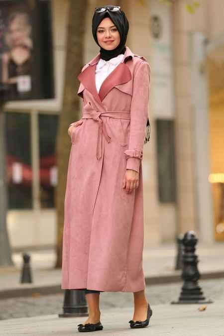 Nayla Collection Kışlık Tesettür Trençkot Modelleri