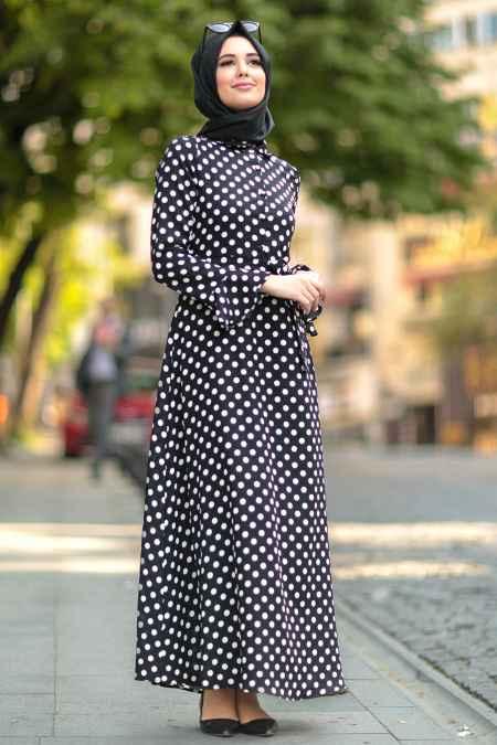Nayla Collection Tesettür Puantiyeli Elbise Modelleri