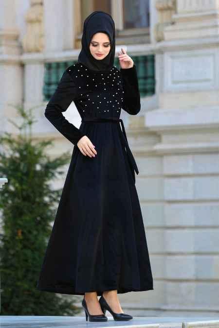 Neva Style Tesettür İncili Elbise Modelleri