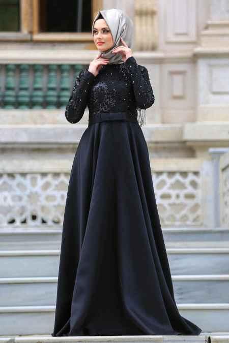 Neva Style Tesettür Pul Payetli Abiye Elbise Modelleri