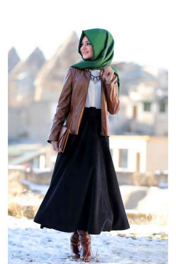 Pınar Şems Kahverengi Deri Ceket Modelleri