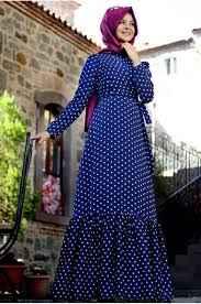 Pınar Şems Tesettür Puantiyeli Elbise Modelleri