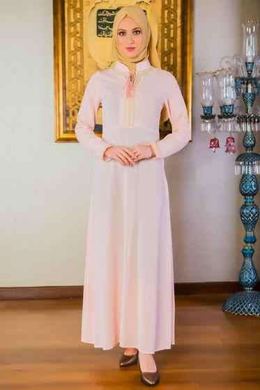 Patırtı Tesettür İşlemeli Elbise Modelleri