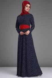 Patırtı Tesettür Puantiyeli Elbise Modelleri