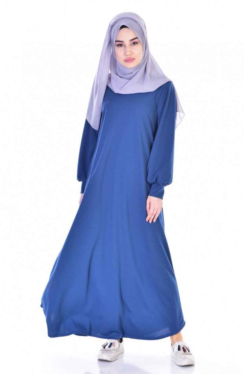 Sefamerve İndigo Tesettür Salaş Elbise Modelleri