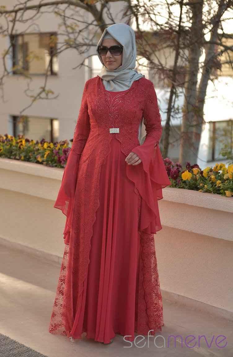 Sefamerve Şık Tesettür Abiye Elbise Modelleri