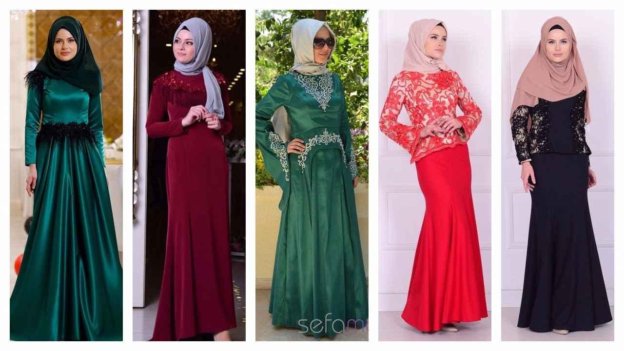 Sefamerve 2017 Tesettür Abiye Elbise Modelleri