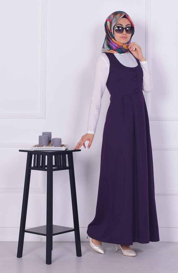 Sefamerve Askılı Tesettür Elbise Modelleri