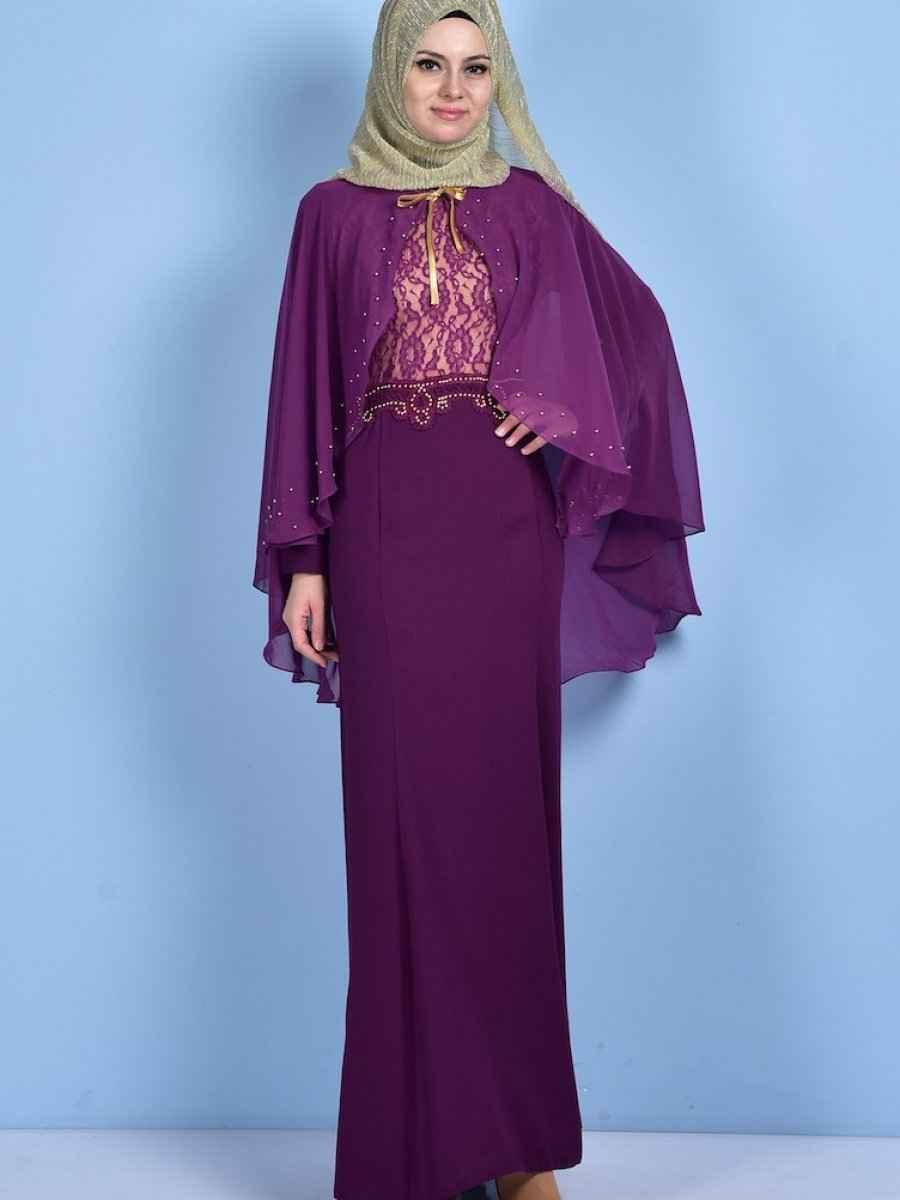 8462ab8d34f3d Sefamerve Abiye Elbise Modelleri   Moda Tesettür Giyim