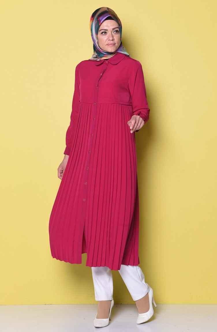 c55c2eeaa1910 Sefamerve Tesettür Şık Piliseli Tunik Modelleri - Moda Tesettür Giyim