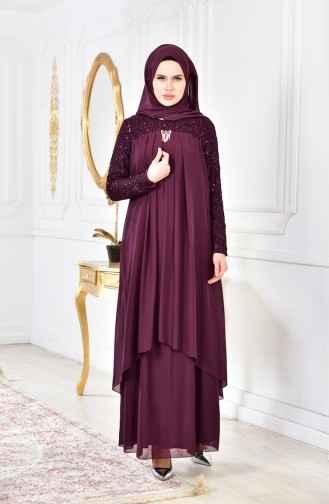 Sefamerve Tesettür Şifon Abiye Elbise Modelleri