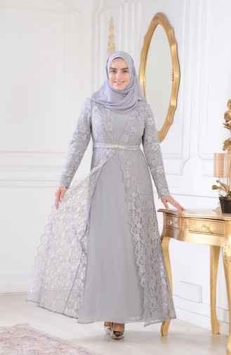 Sefamerve Tesettür Güpürlü Abiye Elbise Modelleri