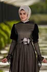 Som Fashion Tesettür Puantiyeli Abiye Modelleri