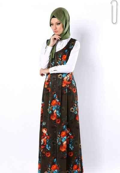 Tozlu Askılı Tesettür Elbise Modelleri