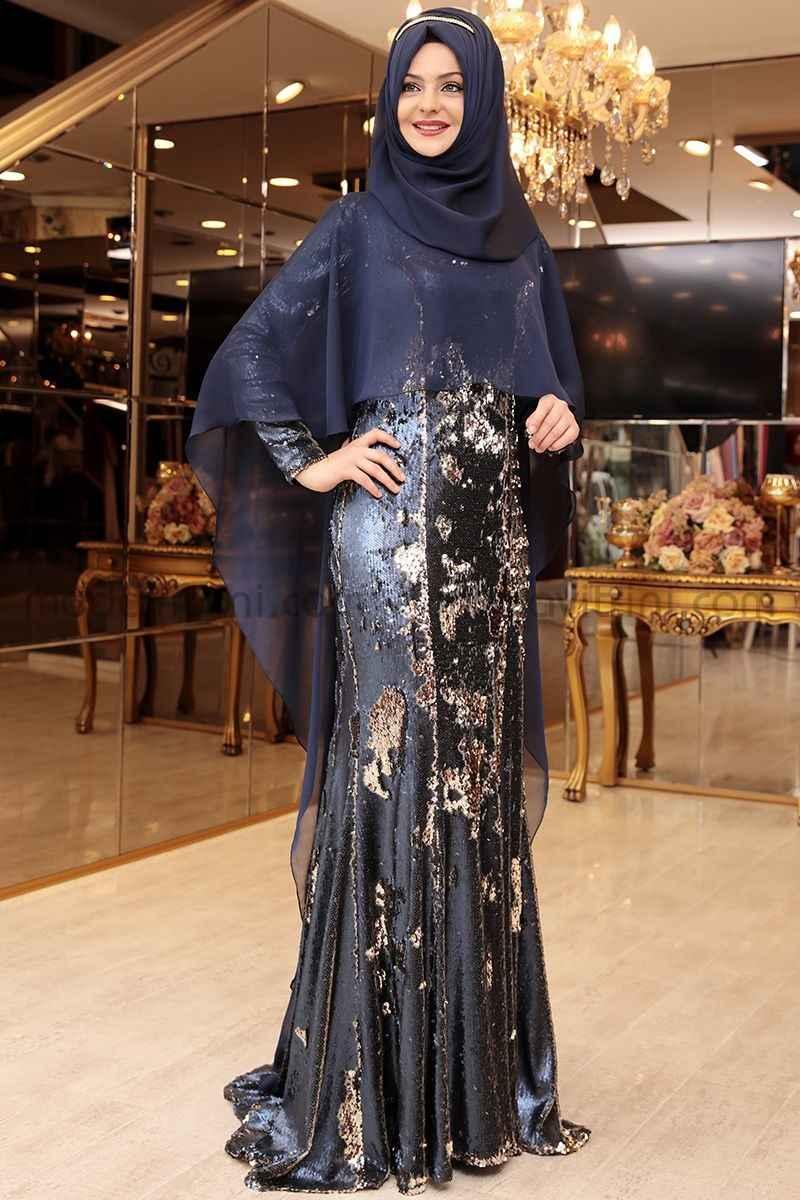 2020 Tesettür Gelin Annesi Elbise Modelleri