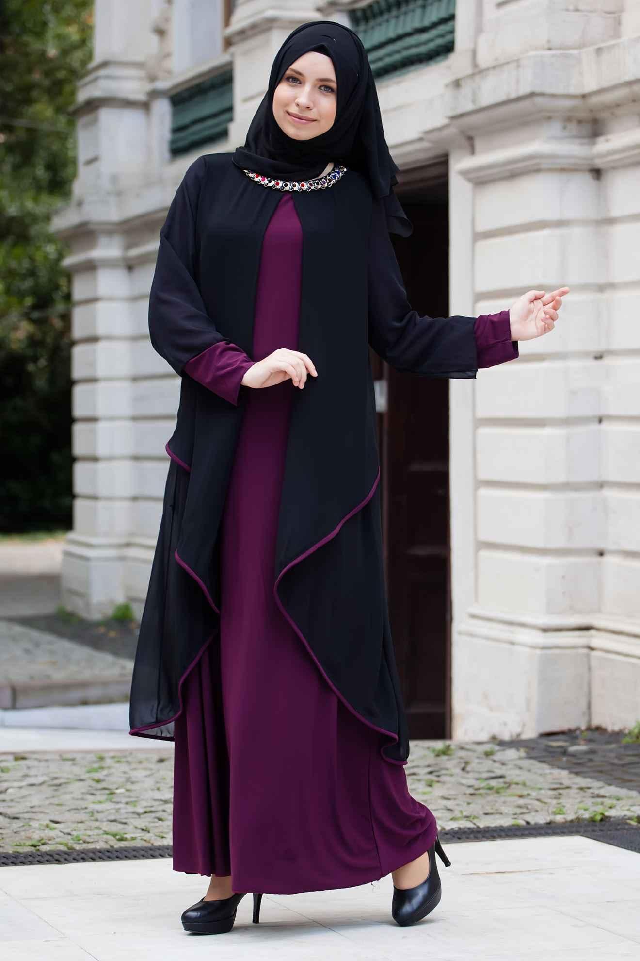 En Şık Tesettür Gelin Annesi Elbise Modelleri