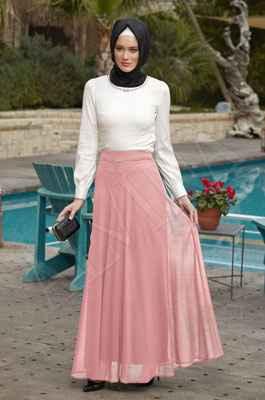 En Güzel Alvina Tesettür Elbise Modelleri