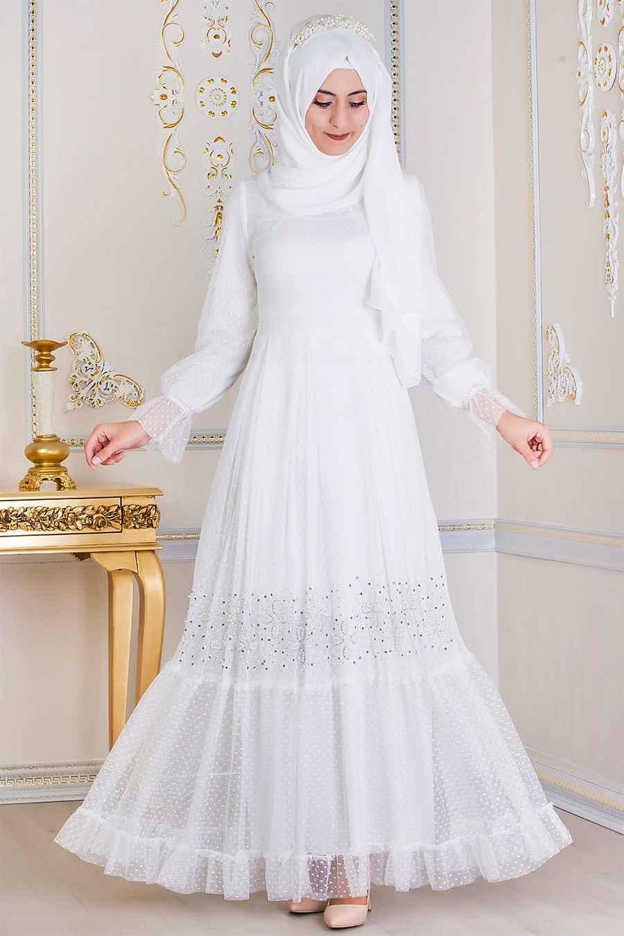 00f78d15d60af Feiza Collection Tesettür Tül Elbise Modelleri - Moda Tesettür Giyim
