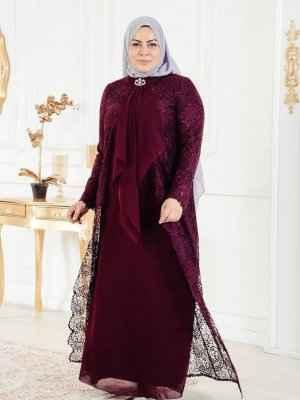 Moda Tesettür Gelin Annesi Elbise Modelleri