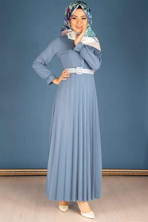 Modahira Tesettür En Şık Piliseli Elbise Modelleri