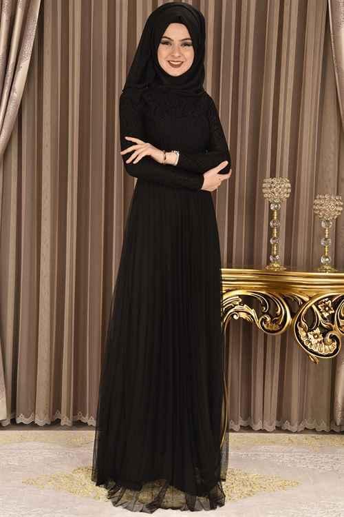 Modahira Tesettür Tül Elbise Modelleri