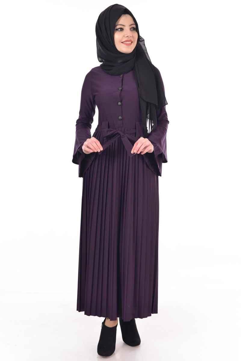 Modamerve Tesettür Piliseli Elbise Modelleri