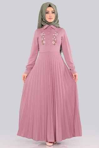 Modaselvim Tesettür Piliseli Elbise Modelleri