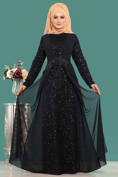 Modaselvim Tesettür Pullu Abiye Elbise Modelleri
