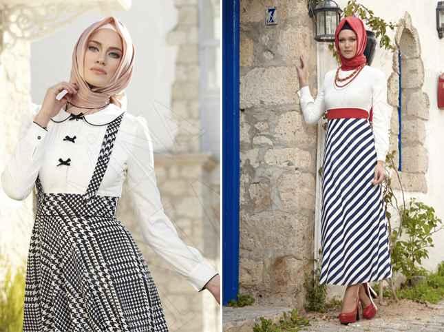 Modern Alvina Tesettür Elbise Modelleri