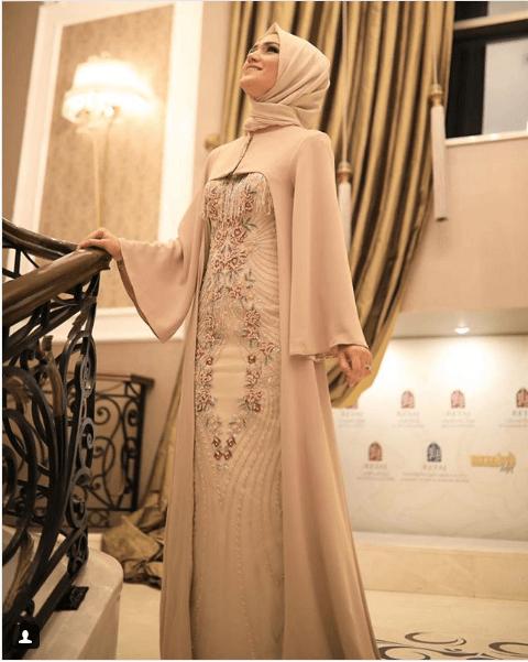 Modern Tesettür Gelin Annesi Elbise Modelleri
