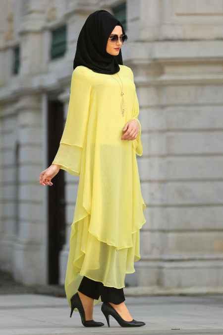 New Kenza Tesettür Şık Şifon Tunik Modelleri