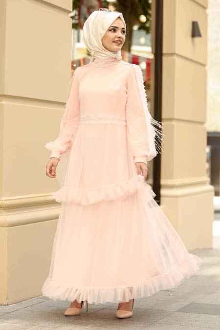 New Kenza Tesettür Tül Elbise Modelleri