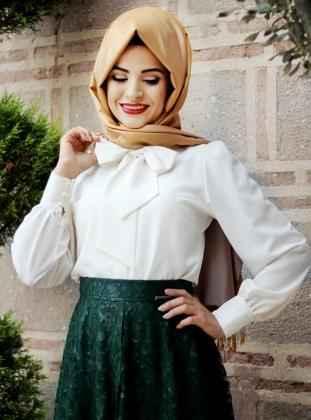 Pınar Şems Tesettür Fiyonklu Gömlek