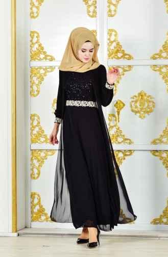 Sefamerve Tesettür Şifon Tül Elbise Modelleri