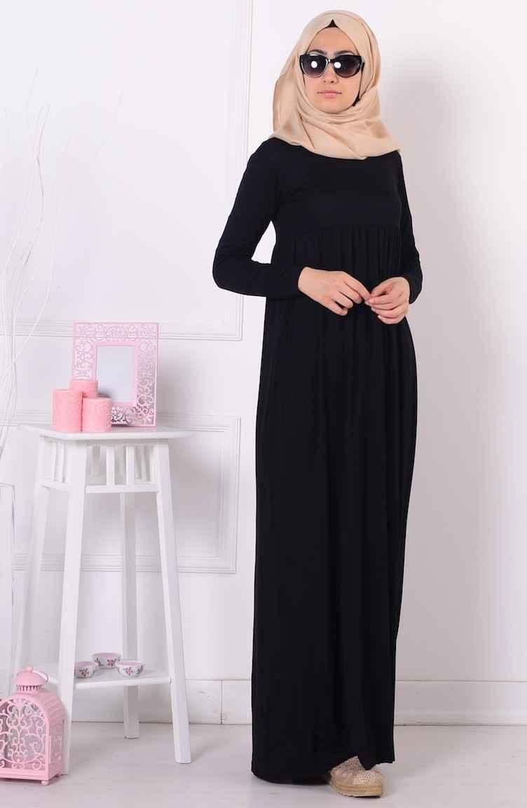 aa7998488fac1 Sefamerve Tesettür Piliseli Elbise Modelleri - Moda Tesettür Giyim