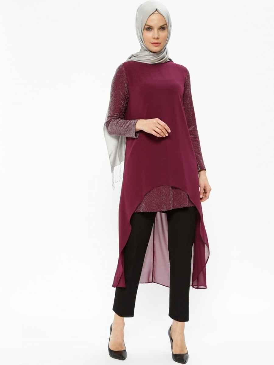 Sevilay Giyim Tesettür Şifon Tunik Modelleri