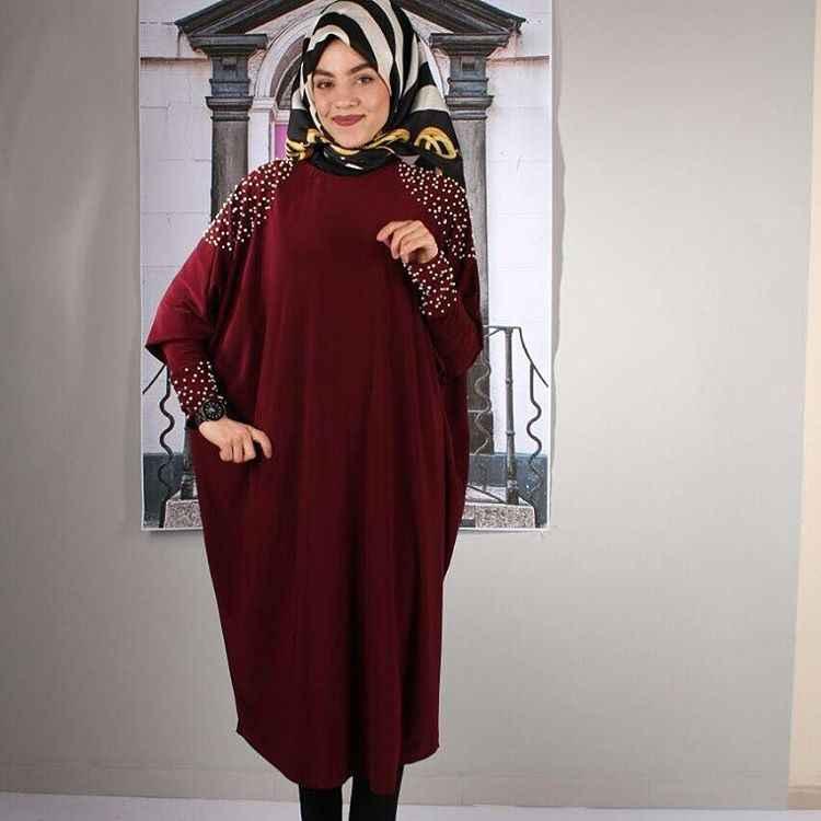 Tesettür Sandy Kumaş İncili Tunik Modelleri